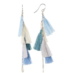 Chan Luu Sterling Silver Tassel Dangle Earrings