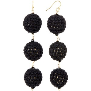 Taolei Black Ball Drop Earings