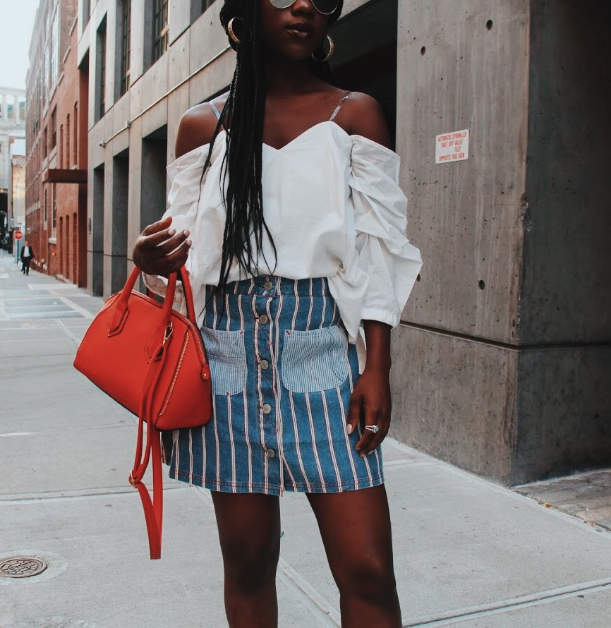 Perfect Statement Denim Skirt