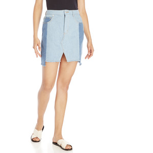 SIGNATURE 8 Color Block Denim Skirt