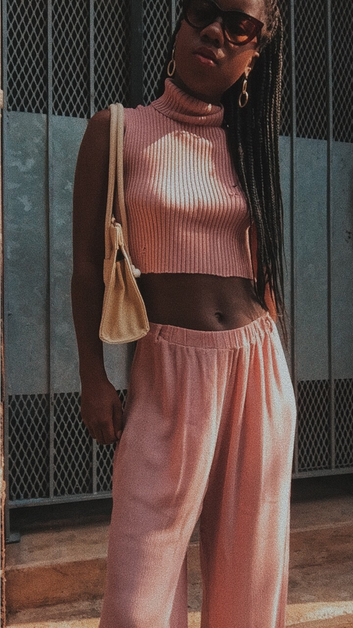 millenial pink outfit