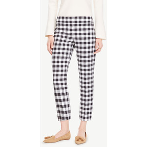 the petite crop gingham pants