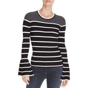 AQUA Striped Bell Sleeve Sweater