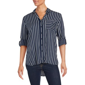 Beach Lunch Lounge Striped One-Pocket Shirt