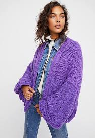 purple Chamomile Cardi