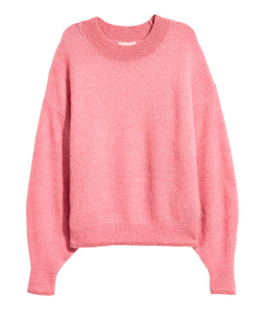 PINK Knit Mohair-blend Sweater