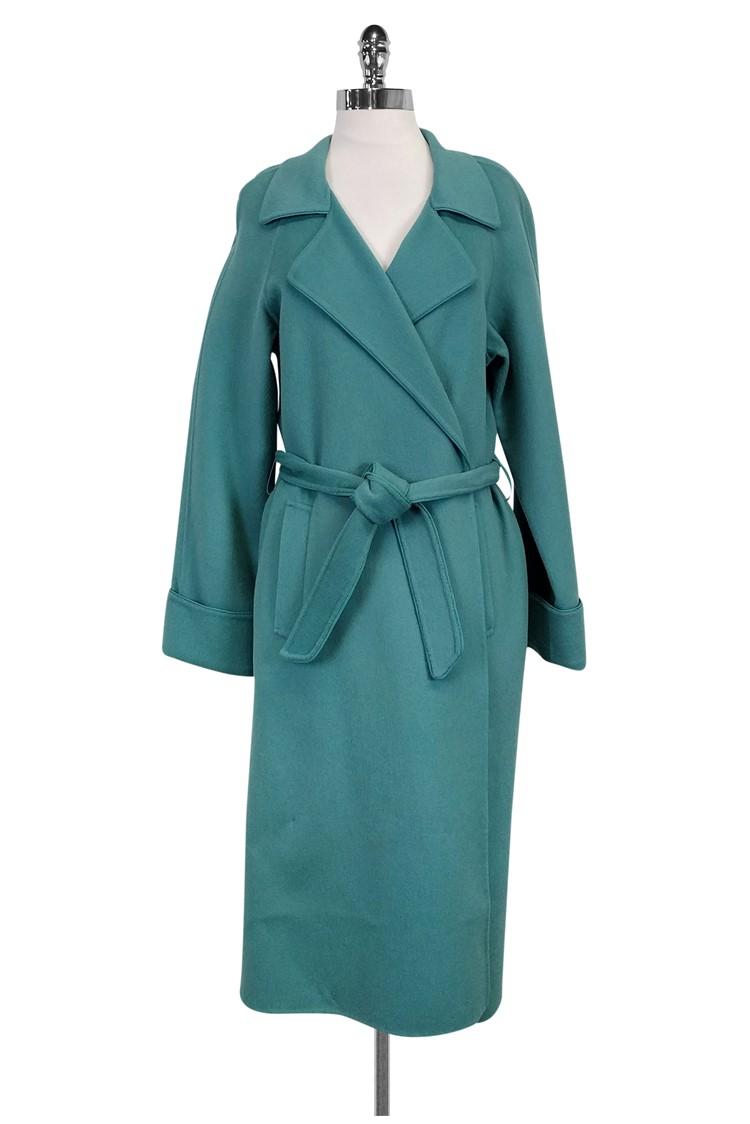 Lafayette 148- Teal Wool Blend Coat