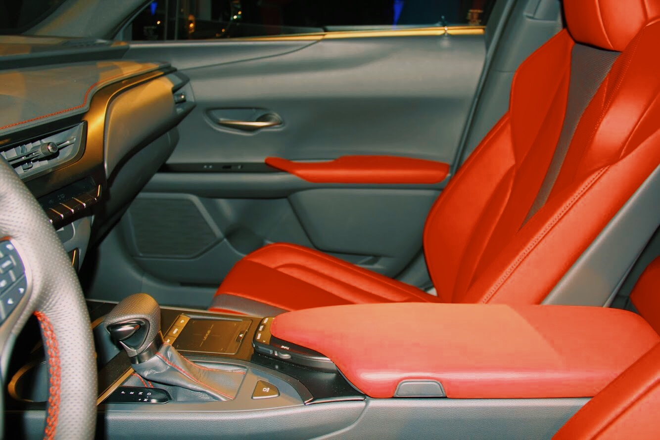 interior of the lexus ux