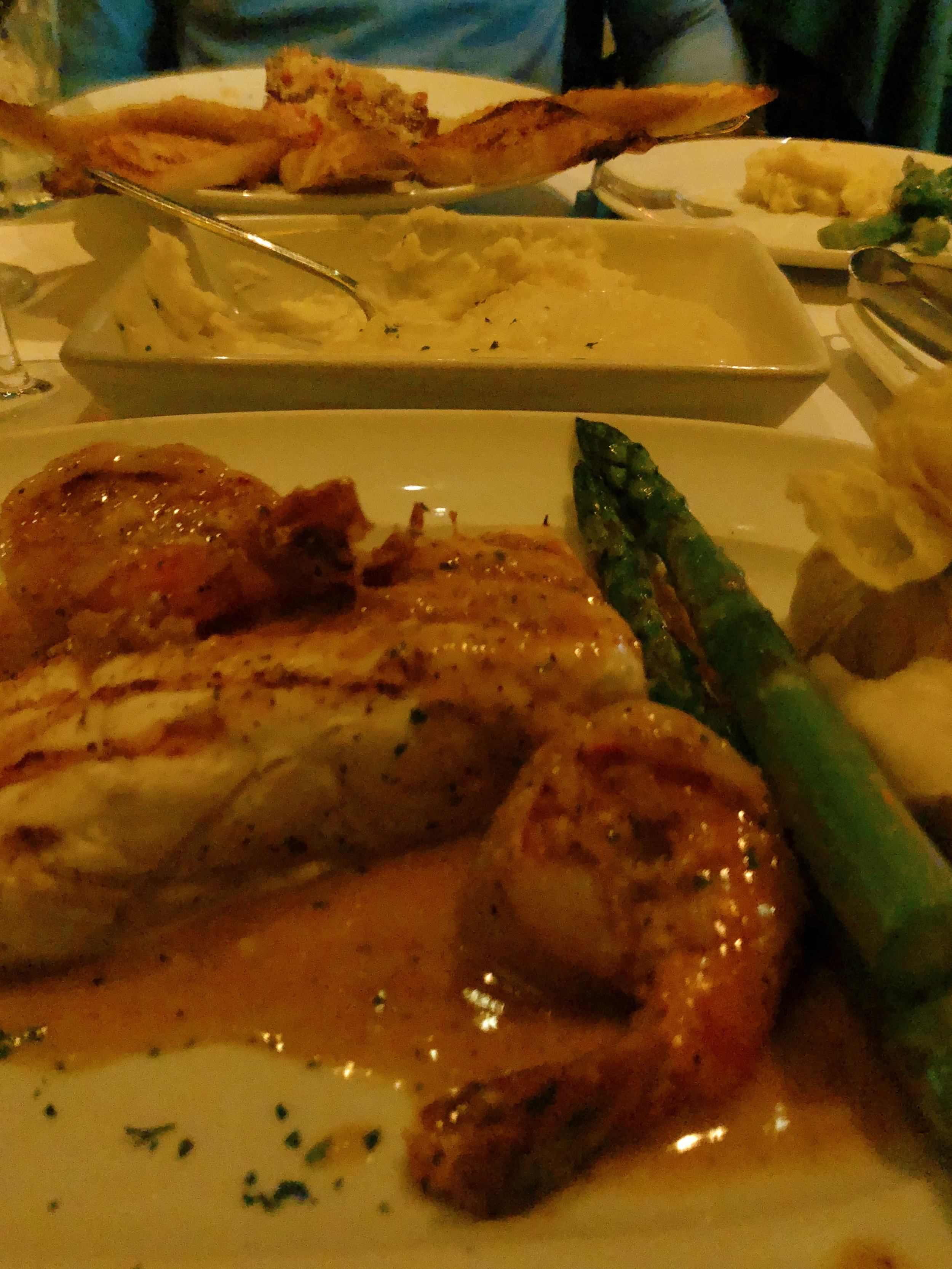halibut dinner