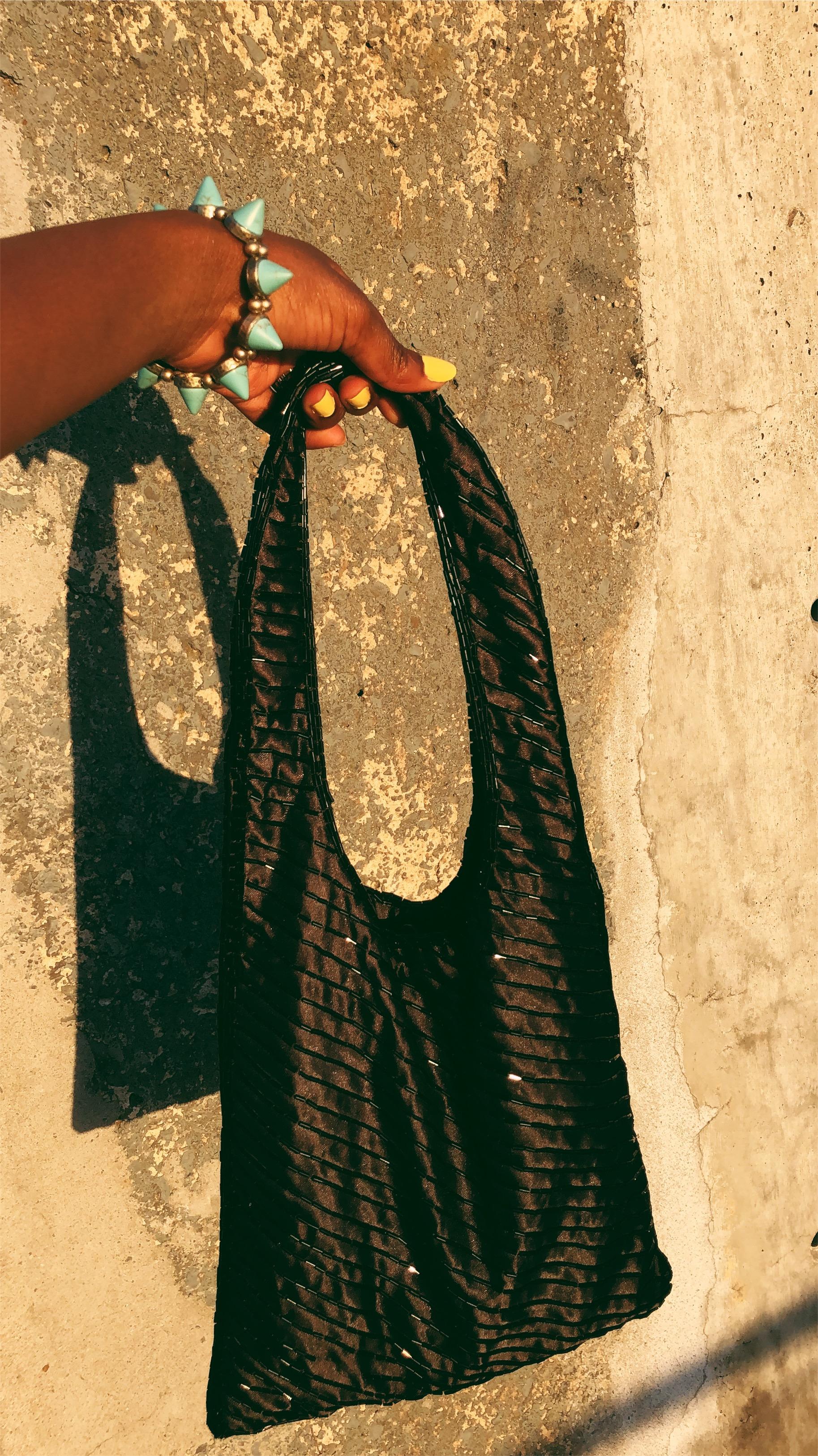 beaded vintage handbag