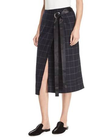 favorite iconFAVORITE ZOOM Image 1 of 3: Omar Plaid Wrap SkirtImage 2 of 3: Omar Plaid Wrap SkirtImage 3 of 3: Omar Plaid Wrap Skirt Elizabeth & James Omar Plaid Wrap Skirt