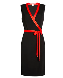 DIANE VON FURSTENBERG Sleeveless Colorblock Wrap Dress