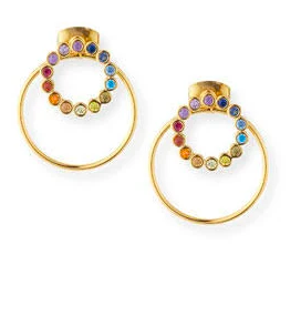 TAI Rainbow Earrings W/ Hoop Jacket, Multi