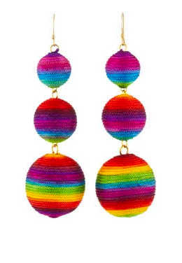 Kenneth Jay Lane Rainbow Triple Drop Earrings, Women's