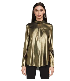 Kendall Metallic Chiffon Top
