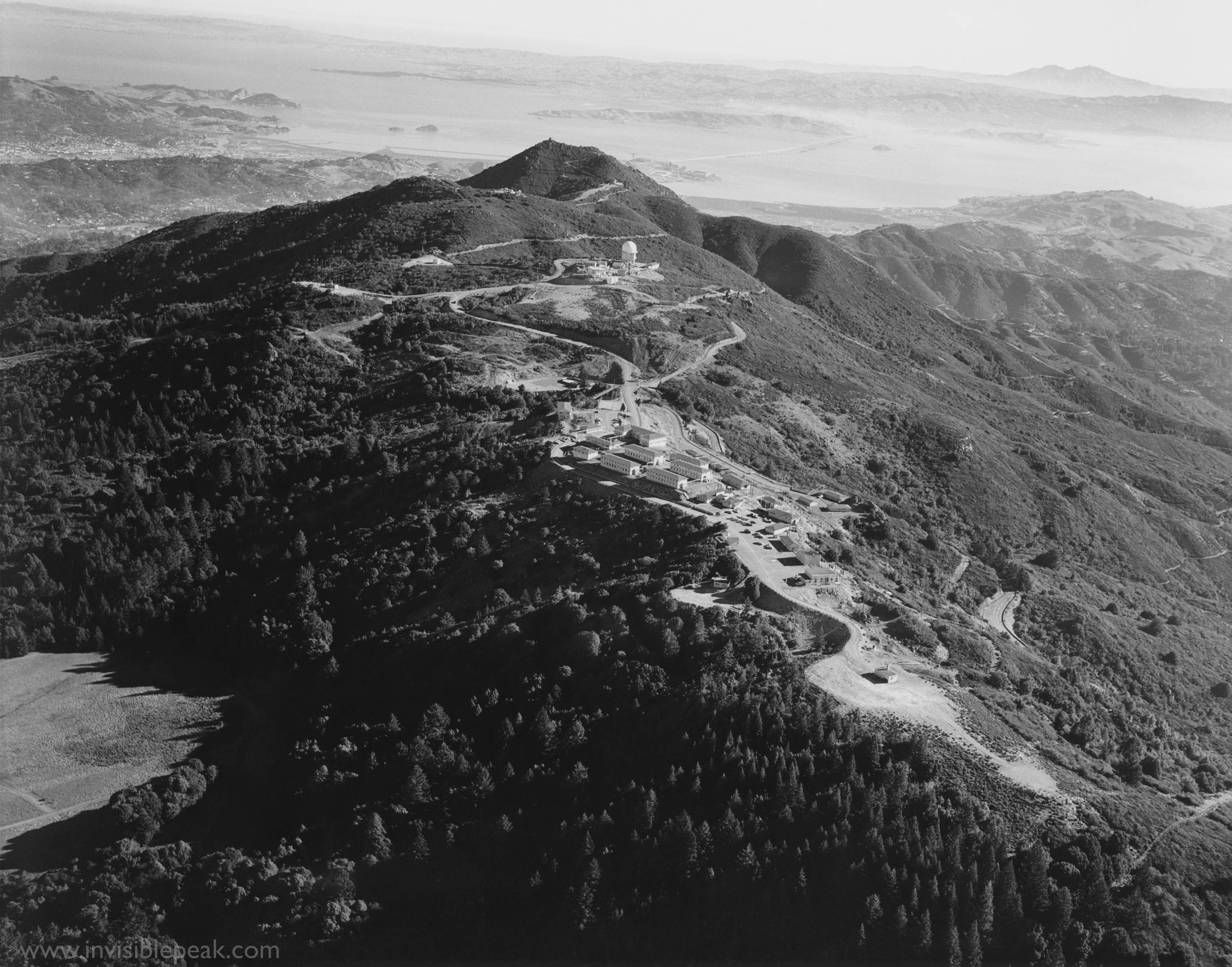 Mill Valley Air Force Station on the West Peak of Mt. Tamalpais, circa 1963.  Photographer unknown.
