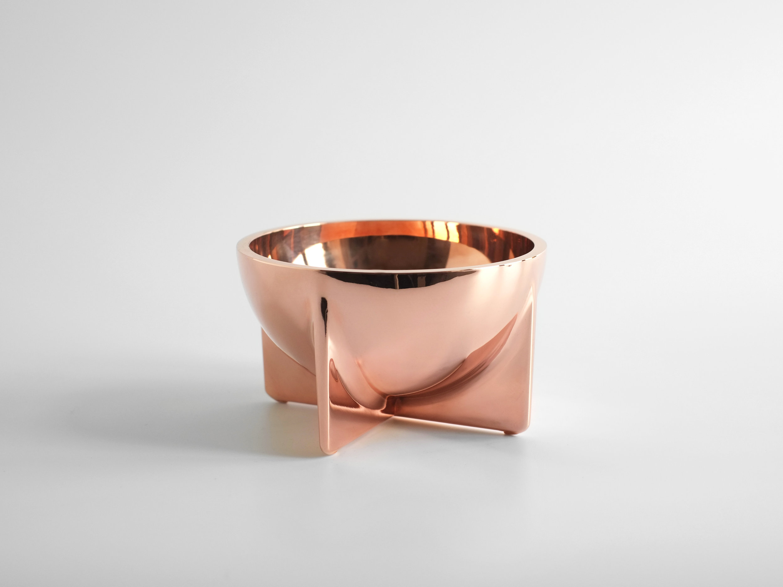 Copper Standing Bowl - Small