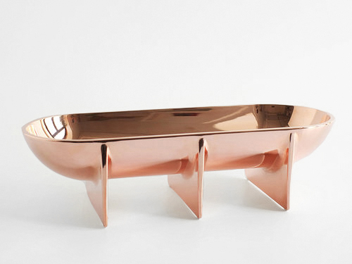 Copper Standing Bowl - Large
