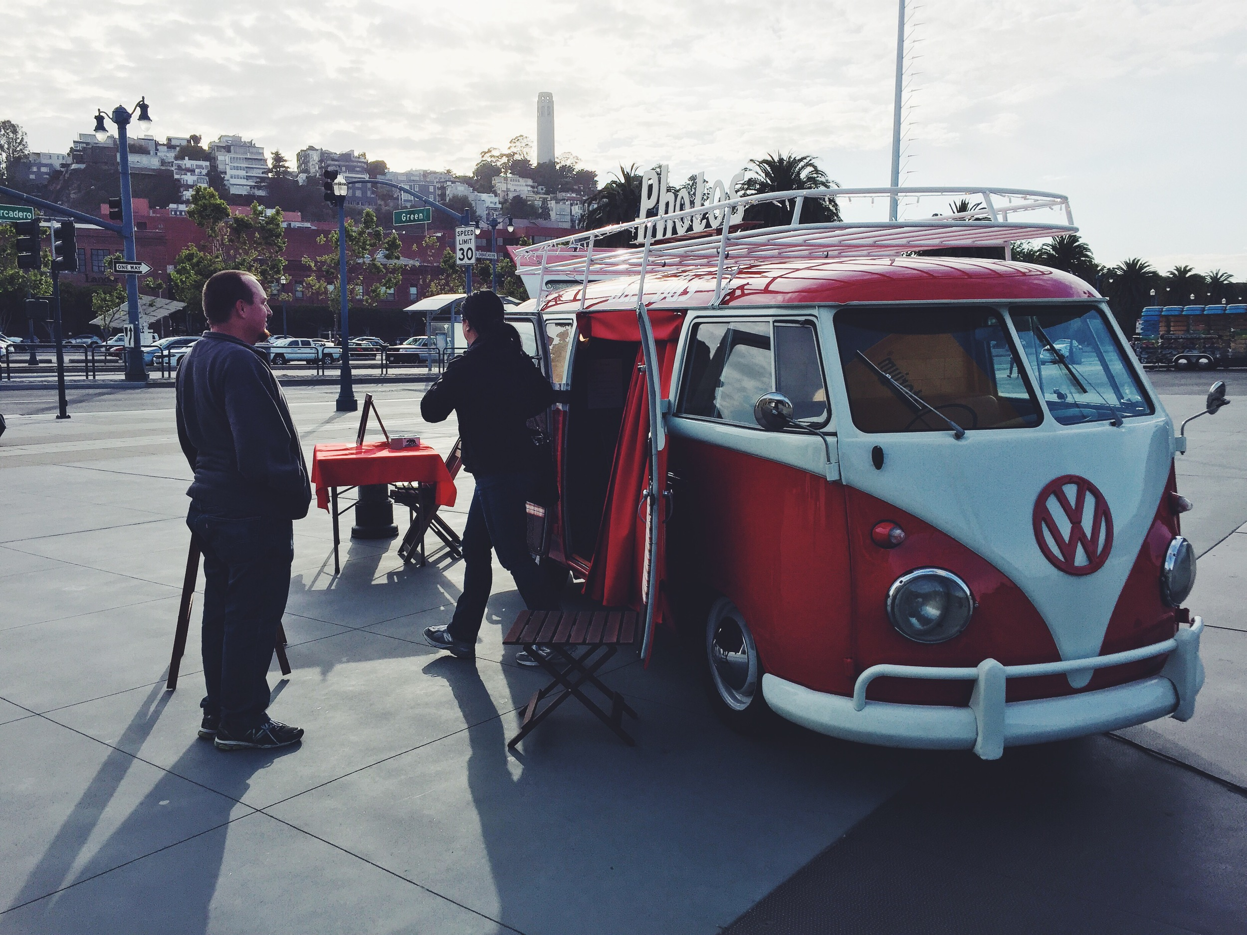 Das Bus set up outside the Exploratorium for After Dark: Photography on May 7, 2015.