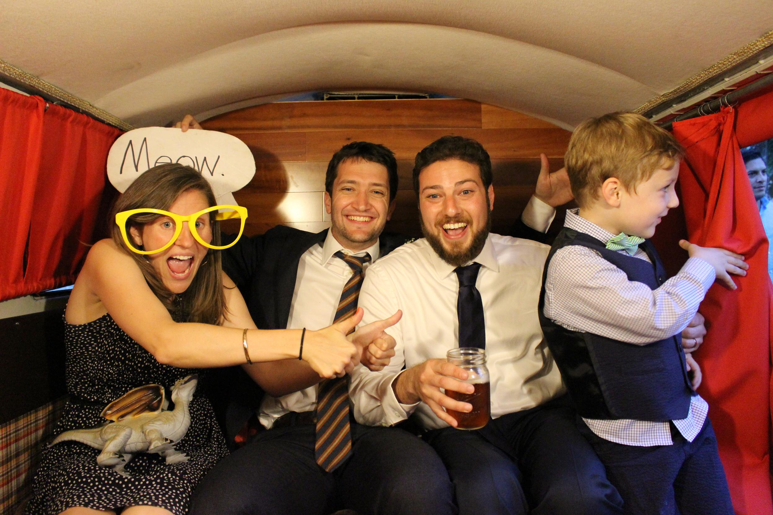 Family fun in Das Bus at the wedding.