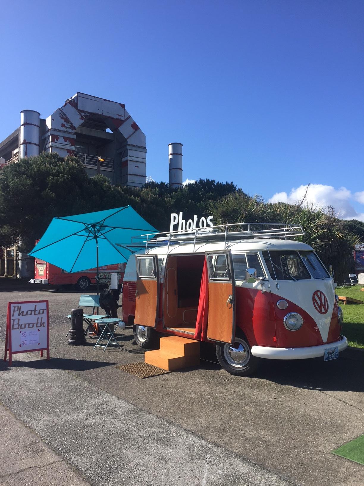Das Bus at Treasure Fest last month debuting the solar setup!
