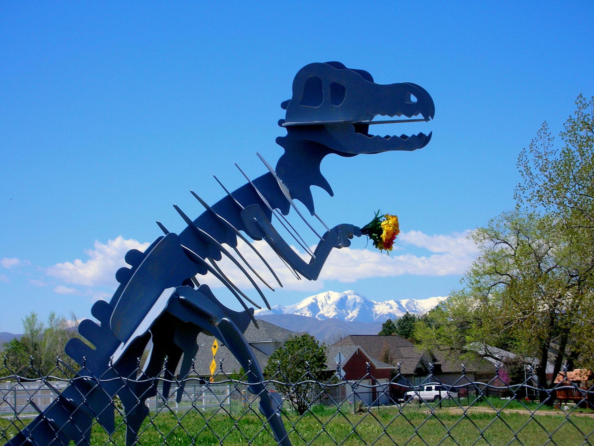 prehistoric neighbor looking for love. draper, utah