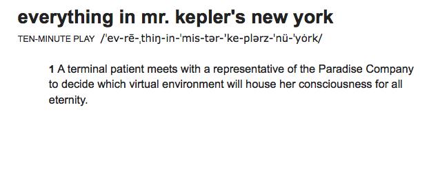 Everything in Mr. Kepler's New York