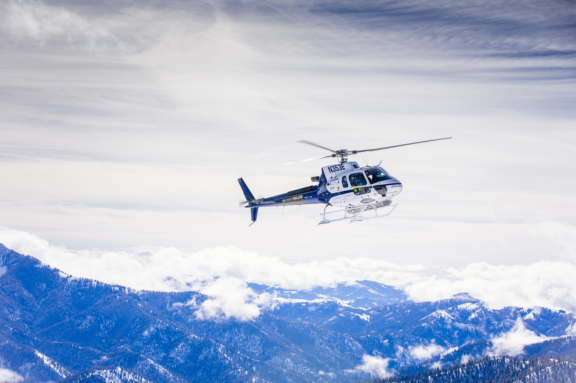 MORNING HELICOPTER RIDE TO TOP OF BALDY -