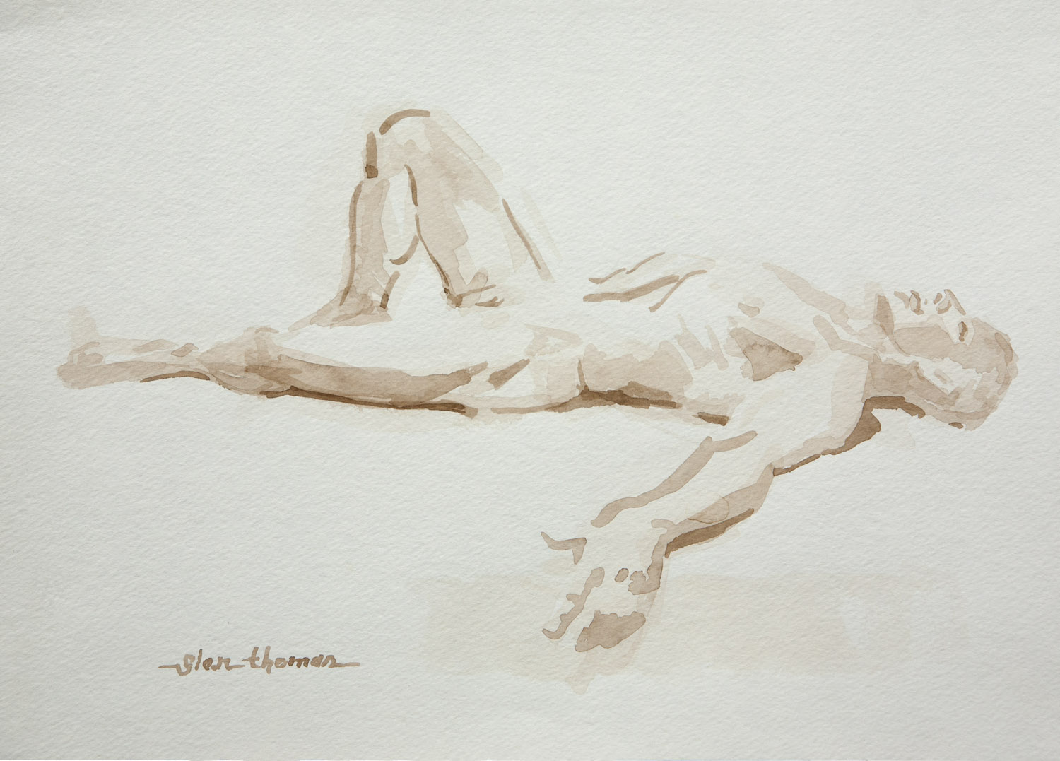 Reclining Male Figure, side view