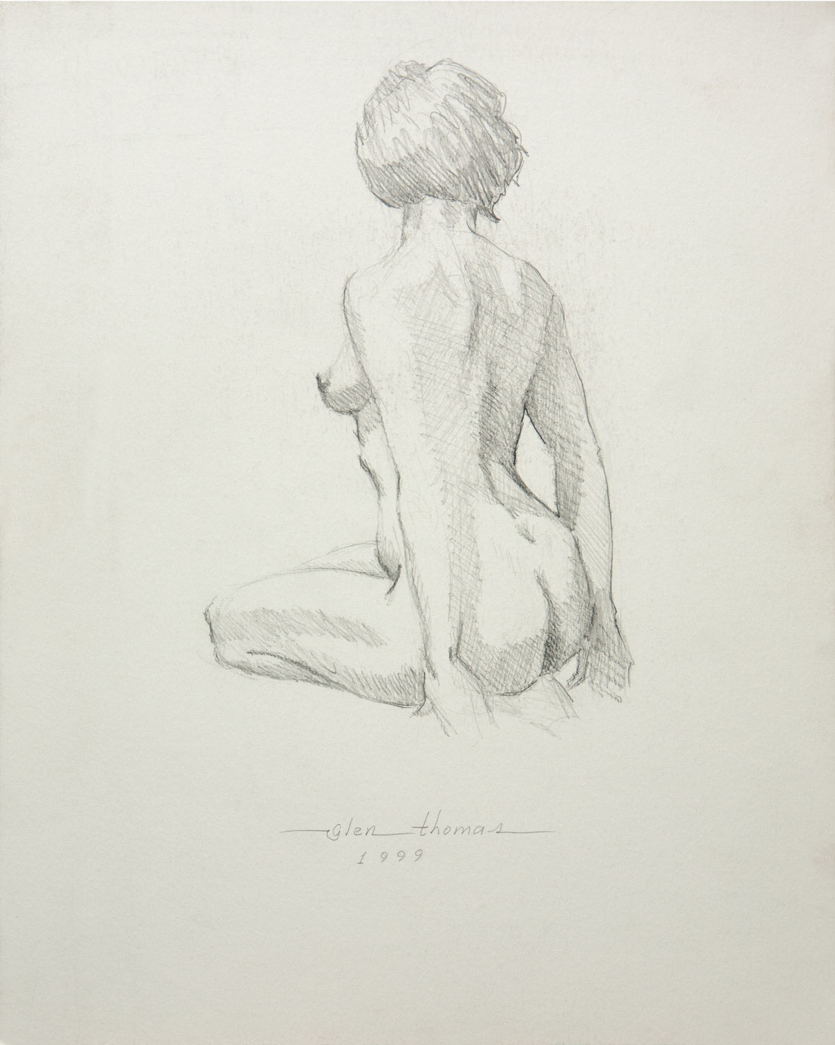 Seated Figure, 3/4 back view