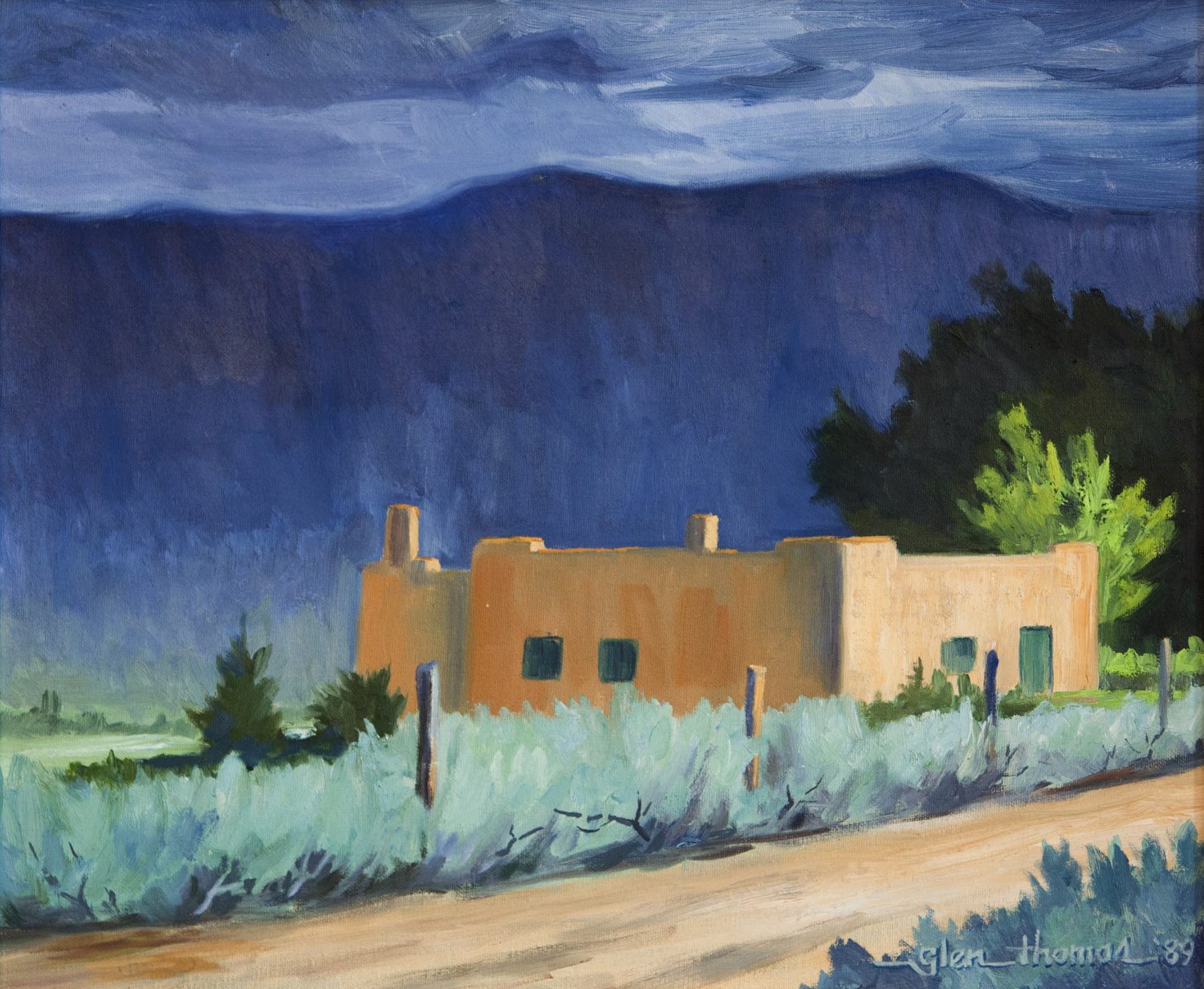 Storm Over Taos Mountain - SOLD