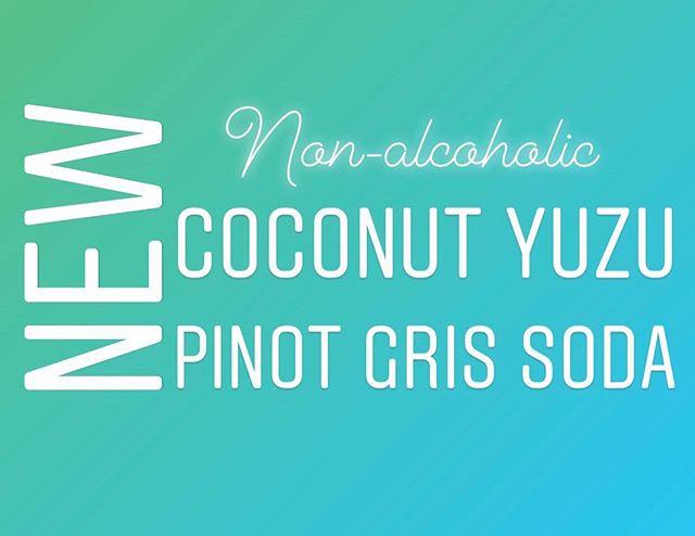 Today at the @clintonvillefarmersmarket we will have a NEW SODA FLAVOR!  Coconut Yuzu Pinot Gris 🥥 🌴  #sodasaturday #winesoda