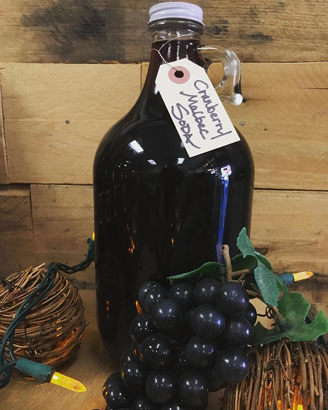 Looking for a non-alcoholic alternative this #thanksgiving? 🦃  Grab some of our #winesoda made from wine kits but with no alcohol!  Our Cranberry-Malbec Soda would go perfectly with a delicious turkey dinner.  Available in 16oz. and 1/2gal. growlers.
