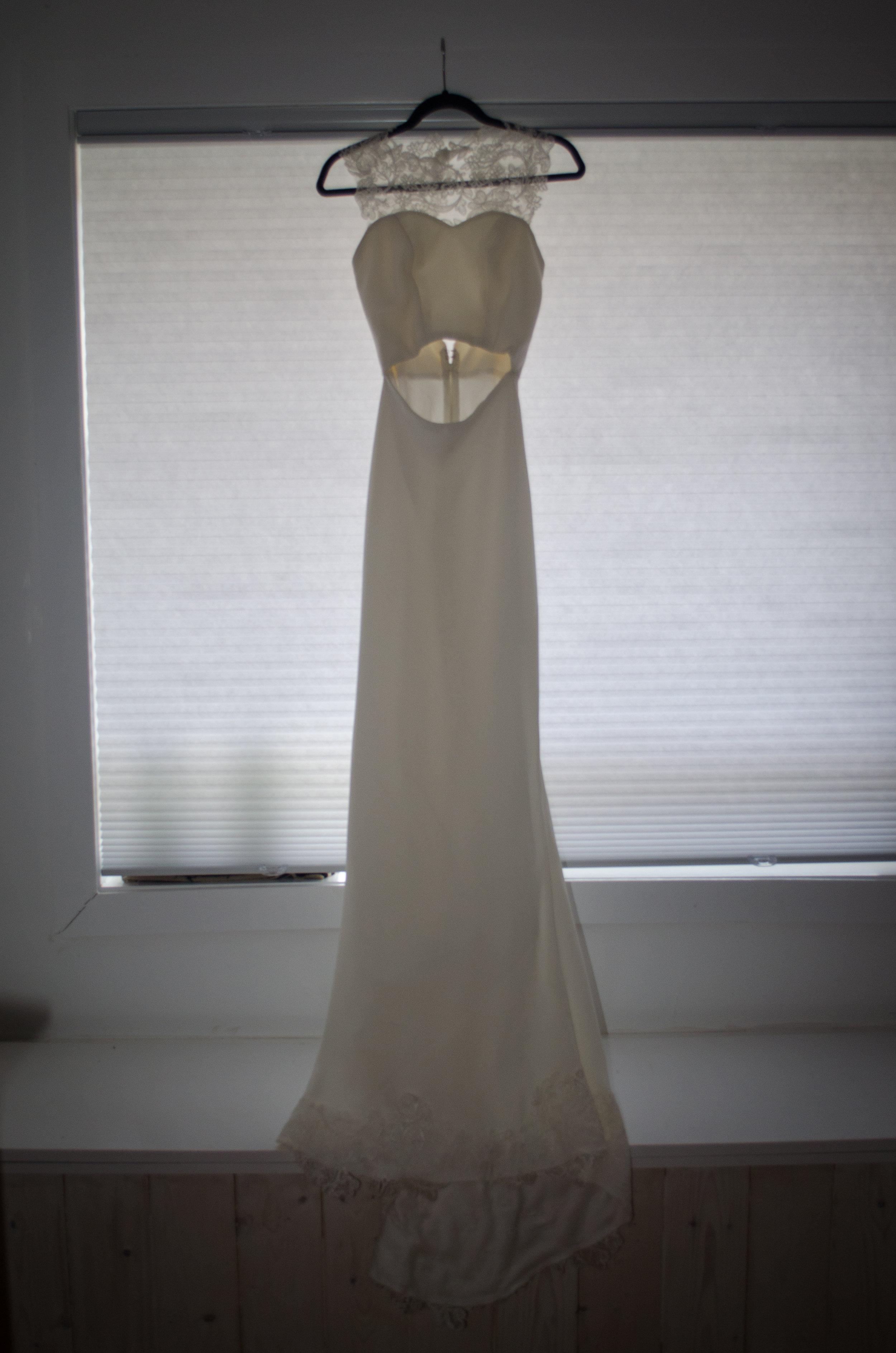 Dress on hanger
