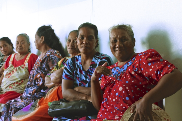 Patients wait to see our orthopedists during clinics at Majuro Hospital. PC: Brian Hoffman.