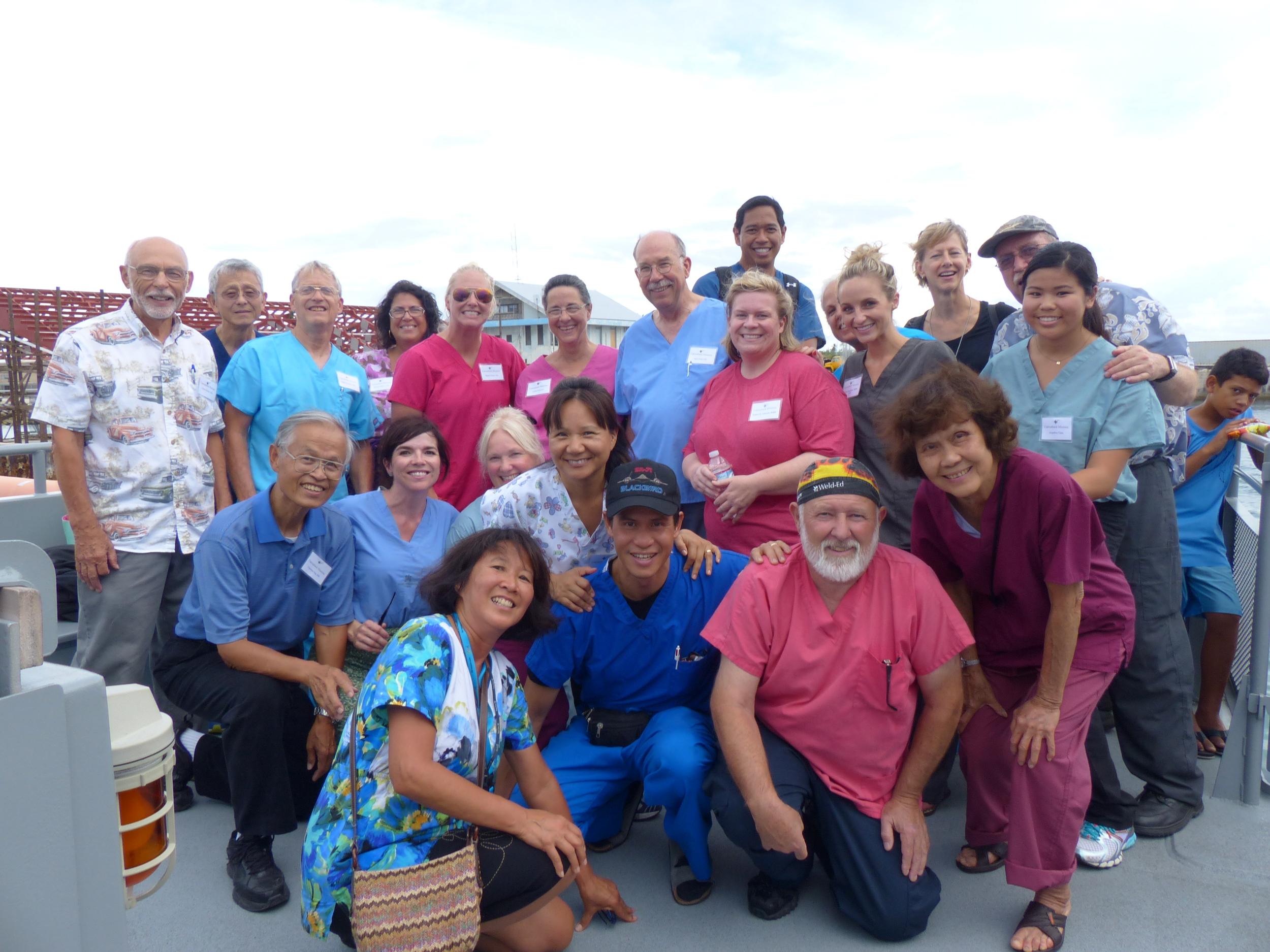 The Canvasback ophthalmology and dental teams pose together.JPG