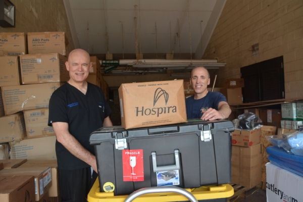 Some of the medical supplies shipped during our 2016 Palau Orthopedic Mission. We have to ship hundreds—sometimes thousands—of pounds of supplies for each mission.