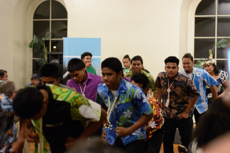 Marshallese dance group  Jurbak in Mejit  stomped, sang, and brought the house down.