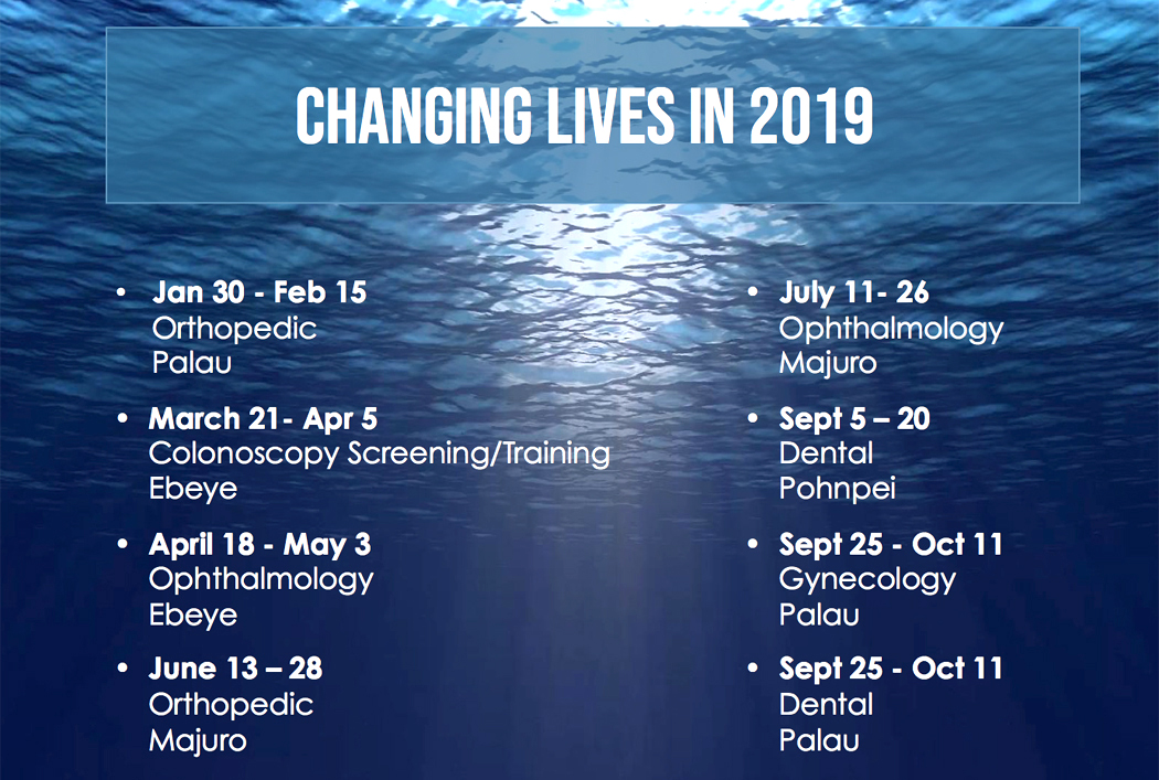 2019 will be a busy year for the  Canvasback Super Teams . we expect to heal and treat thousands during our visits and you help us by  donating to our 2019 missions .