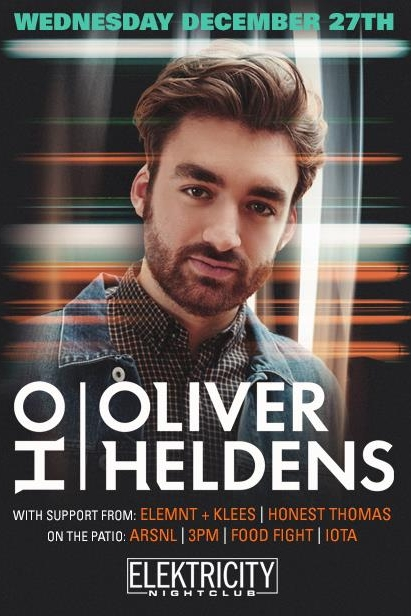 DECEMBER 27TH - Super excited to be opening for @Oliver Heldens on December 27th (my Mom's birthday!) at Elektricity in Pontiac Michigan!  I hope to see you there dancing with me!