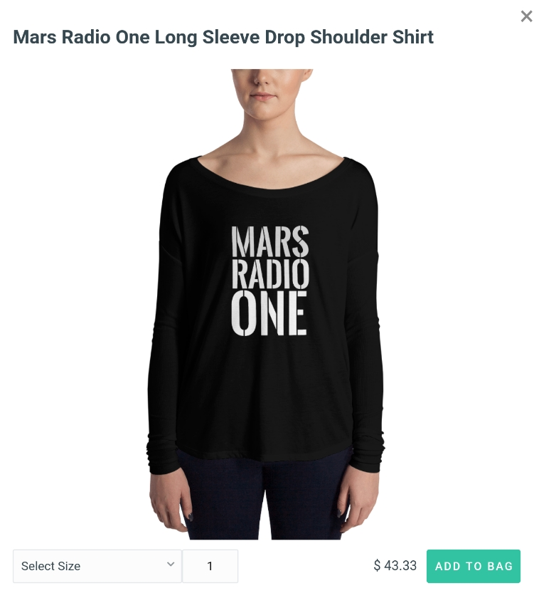 Mars Radio One Dropneck Tee