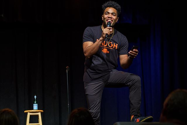 Good times in San Francisco closing out my girl @anjelahjohnson's #moreofmetour! Looking forward to getting back to work in the fall!! Thanks for all the love Bay Area peeps!! Thanks to @jakeesisneros for always getting pics of me on stage. #laughshirt #sanfrancisco #a7iii #bayarea #sinbad #cobbscomedyclub @cobbscomedyclub @sinbadbad #laughhoodie