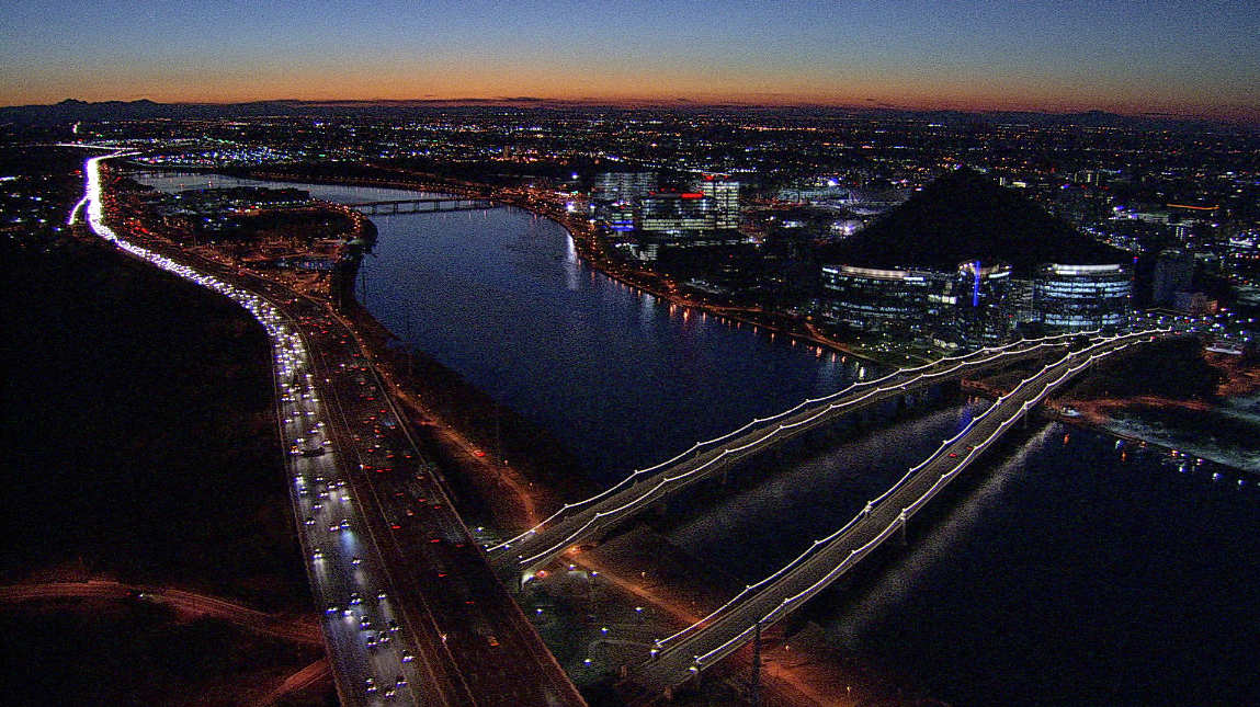 Tempe Town Lake before sunrise
