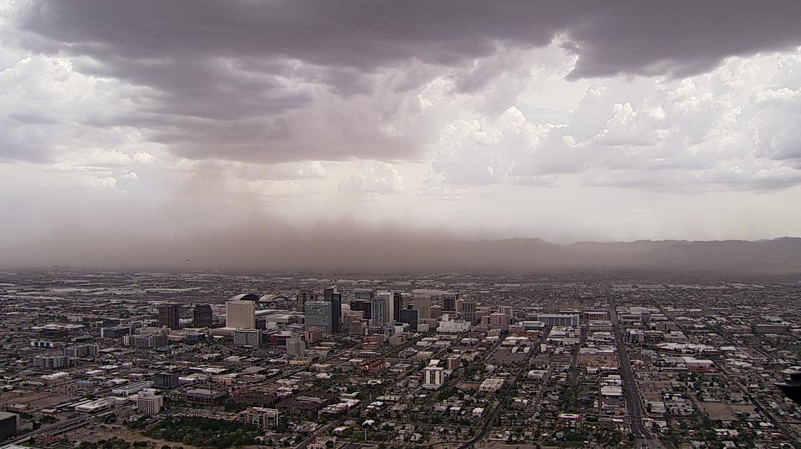 A dust storm rolling across Phoenix