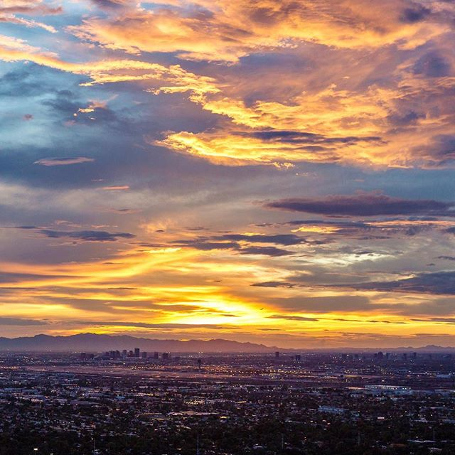 The best thing about monsoons, besides the rain, are the sunsets afterwards.  #azweather #azwx #arizonaphotographer #tv3 #cbs5az #chopperguy #monsoons #monsoonseason2017  #phoenix #arizonacollective #igaz #igsouthwest #weatherphotos #aerialphotography #stormchasing #r44 #phoenixweather #tempe #aerialimages #epicsunsets #arizonasunset #afterthestorm #downtownphx #cityscape #goldenhourlight #hpow #igphx #igersphx