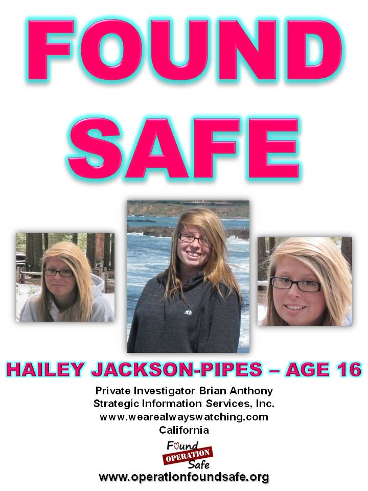 Hailey Jackon-Pipes - FOUND SAFE ` age 16 - missing since 03-24-14 from Sacramento, CA.jpg