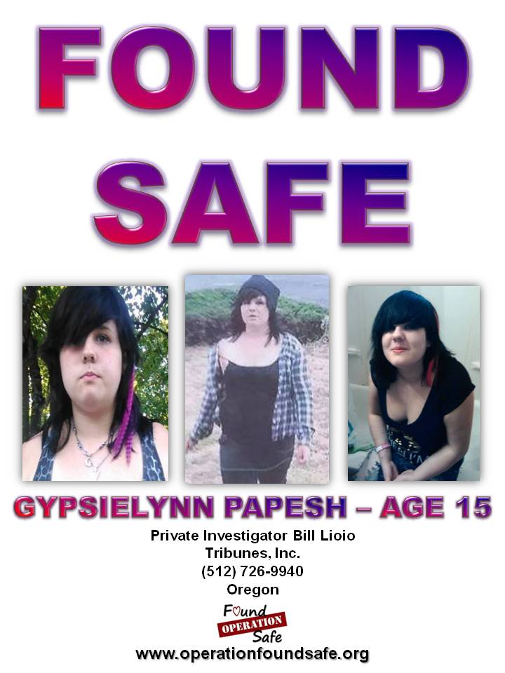 Gypsielynn Papesh - FOUND SAFE - age 16 - missing since 09-20-14 from Albany, OR.jpg