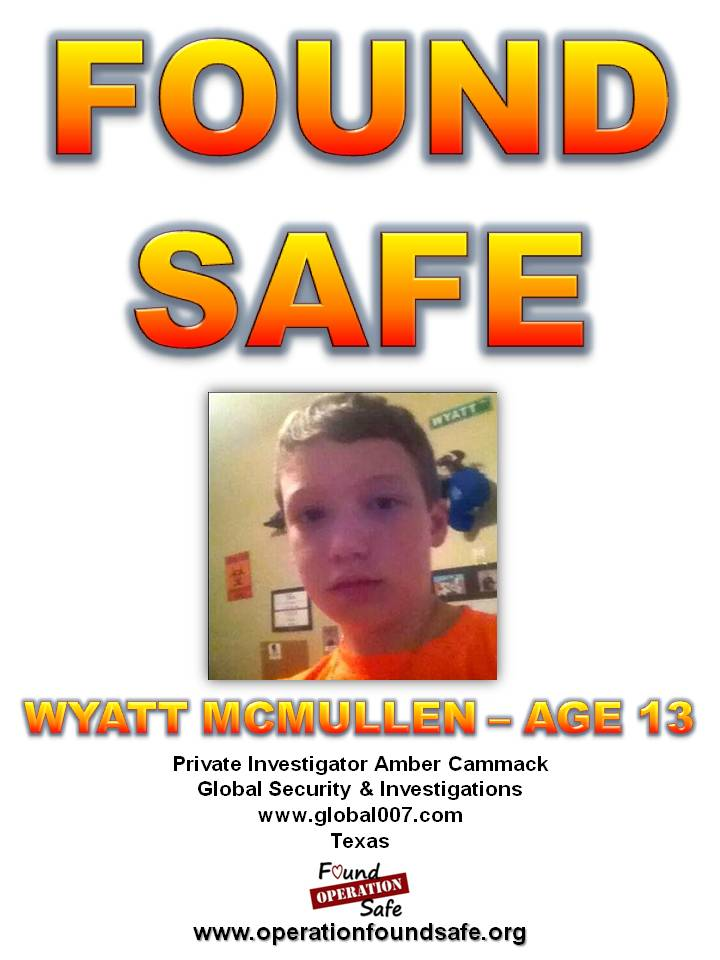 Wyatt McMullen - FOUND SAFE - age 13 - missing since 10-17-14 from Conroe, TX.jpg
