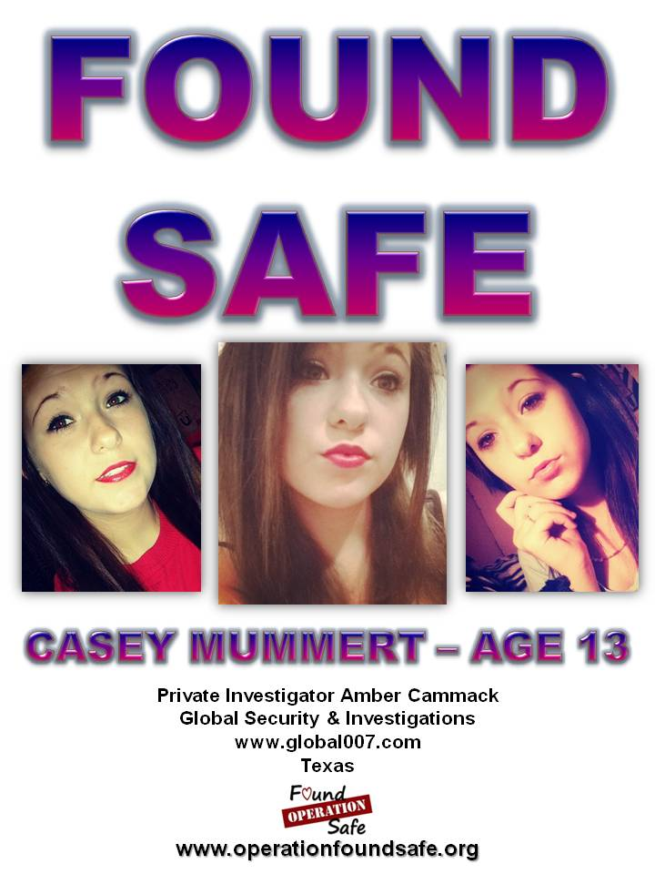 Casey Mummert - FOUND SAFE - age 13 - missing since 12-02-14 from Midwest City, OK.jpg