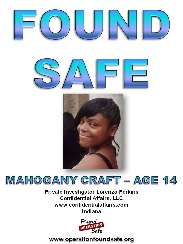 Mahogany Craft - FOUND SAFE - age 14 - missing since 02-13-15 from Gary, IN.jpg